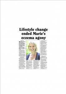 Lifestyle change ended Marie's excema agony